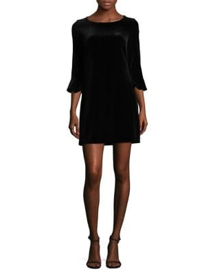 Velvet Flounce Mini Dress by Laundry by Shelli Segal