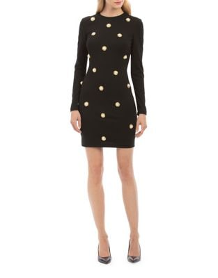 Faux Pearl Detail Sheath Dress by Nicole Miller New York