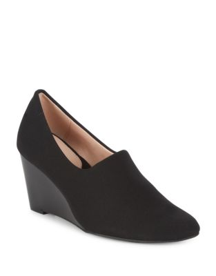 Yvonne Suede Wedge Pumps by Taryn Rose