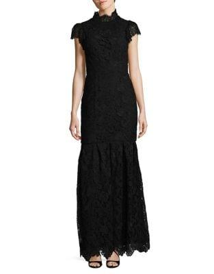 Guipure Lace Cotton Evening Dress by ML Monique Lhuillier