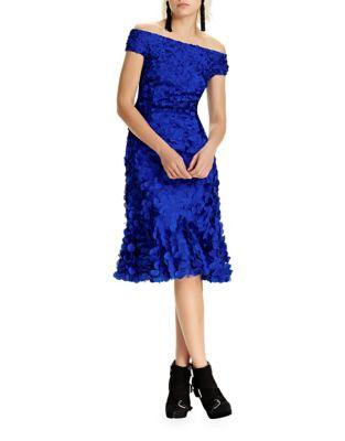 Petal Knee-Length Dress by Theia