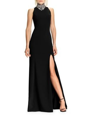 Sleeveless Beaded Gown by Theia