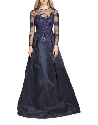 Sheer Top Evening Gown by Teri Jon