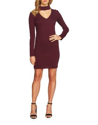 Keyhole Front Bodycon Dress by Cynthia Steffe