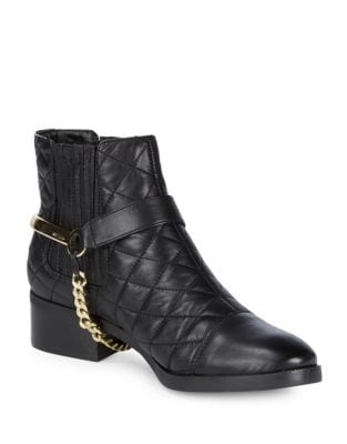 Marisol Leather Booties by Karl Lagerfeld Paris