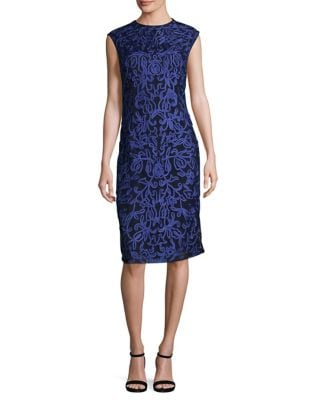 Electric Sleeveless Sheath Dress by JS Collections
