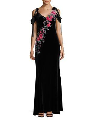 Floral Detail Cold-Shoulder Dress by Tadashi Shoji