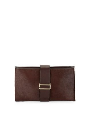 Sade Leather Clutch @...