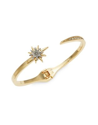 Celestial Skies Pave Black Diamond Crystal and Hematite Hinged Bracelet 500087615623