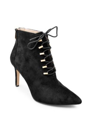 Norton Suede Booties by Adrienne Vittadini