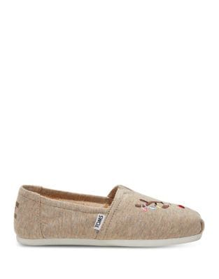 Holiday Reindeer Faux Fur Alpargata Flats by TOMS