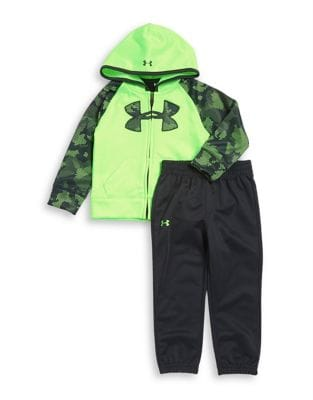 Little Boys Printed Jacket and Pants Set
