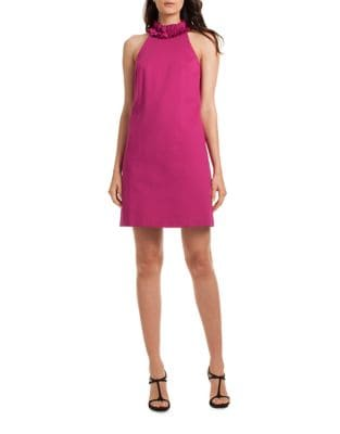 Ruffle Halter Dress by Trina Turk