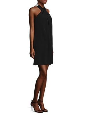 Two-Tone Halter Dress by Trina Turk