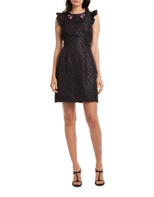 Davis Del Zuro Dot Jacquard Dress by Trina Turk