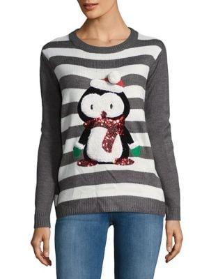 Stripe Penguin Sweater...