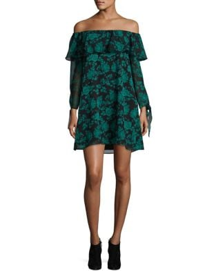 Floral Off-The-Shoulder Shift Dress by Sam Edelman