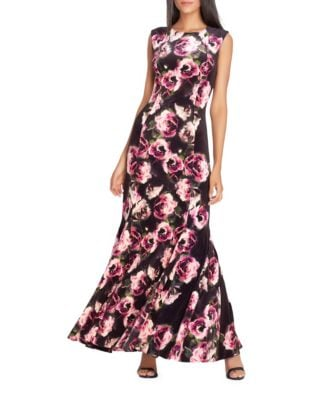 Floral Sleeveless A-Line Dress by Tahari Arthur S. Levine