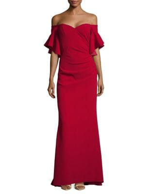 Off-The-Shoulder Bell Sleeve by Badgley Mischka Platinum