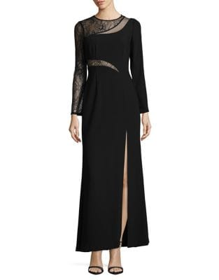 Lace-Trim Evening Gown by Aidan Aidan Mattox