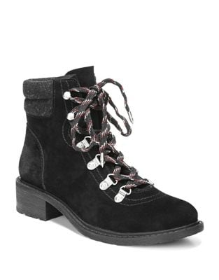 Darrah Lace-Up Suede Booties by Sam Edelman