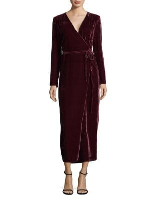 Velvet Wrap Dress by Wayf