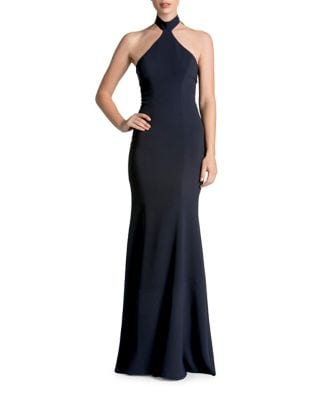 Taylor Halter Top Crepe Bodycon Gown by Dress The Population