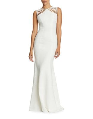 Harlow Strappy Crepe Bodycon Gown by Dress The Population