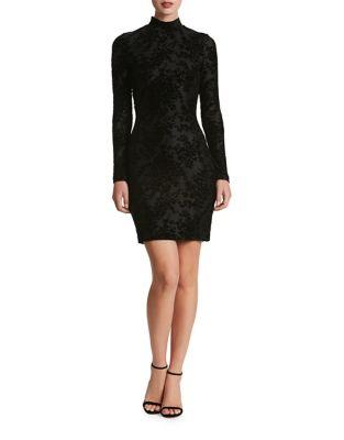 Dana Mini Velvet Bodycon Dress by Dress The Population