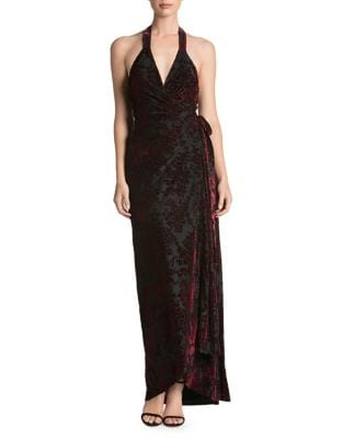 Erica Plunging Wrap Gown by Dress The Population