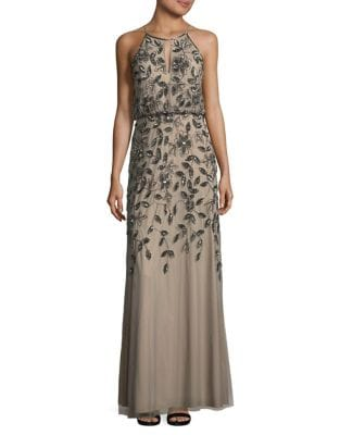 Elegant Blouson Gown by Adrianna Papell