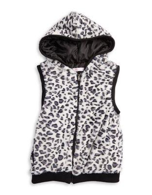 Girl's Faux Leopard-Fur...