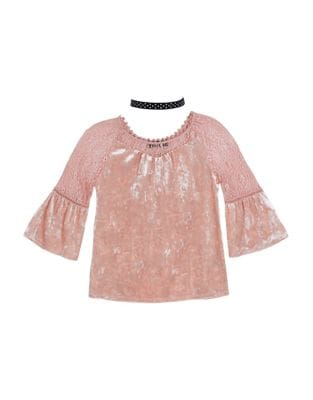 Girls Illusion Sleeve Top