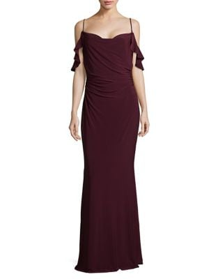 Cold-Shoulder Column Gown by Laundry by Shelli Segal
