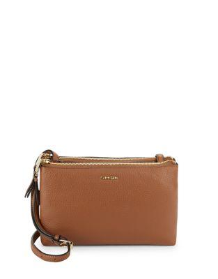 Leather Double Decker Crossbody Bag 500087625550