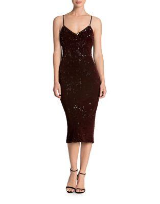 Nina Velvet Sheath Dress by Dress The Population