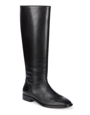 Lee Leather Tall Boots by Donna Karan