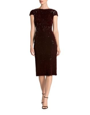 Velvet Sequin Midi Dress by Dress The Population