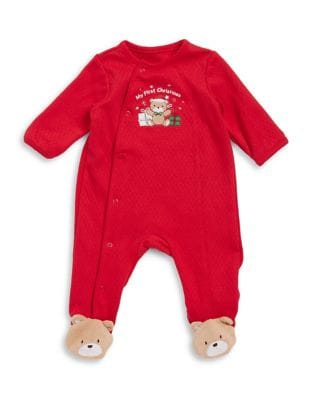 My First Christmas Cotton Bear Footie