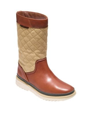 Quilted Mid-Calf Boots by Cole Haan