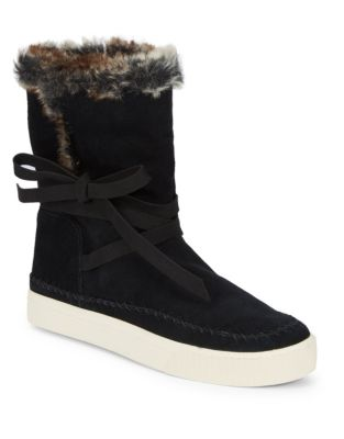 Vista Faux Fur-Lined Suede Boots by TOMS