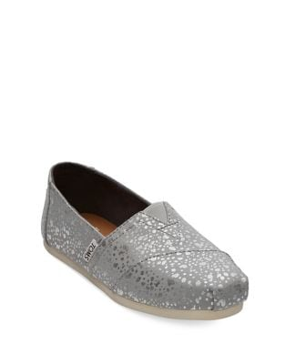 Foil Alpargata Slip-On Flats by TOMS