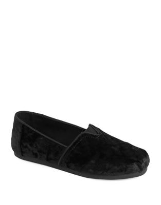 Velvet Bow Alpargata Slip-On Flats by TOMS