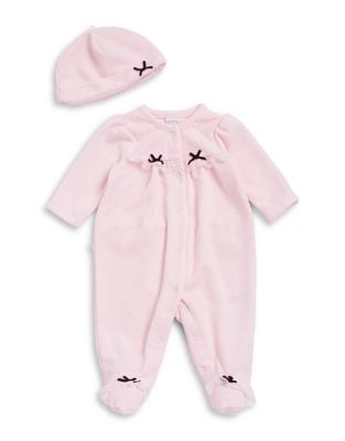 Babys TwoPiece Sweet Fairy Footie and Beanie Set