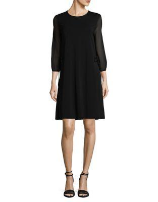 Sheer Sleeve Sheath Dress 500087633440