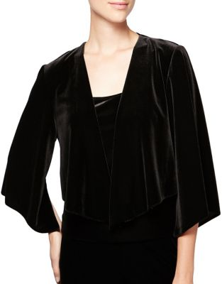 Cascade Velvet Open-Front Jacket by Alex Evenings