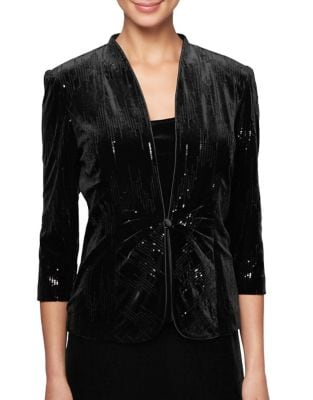 Two-Piece Firework Velvet Jacket and Tank Top by Alex Evenings