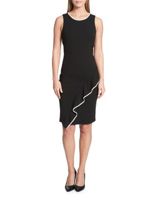 Photo of Ruffle Trimmed Sheath Dress by Tommy Hilfiger - shop Tommy Hilfiger dresses sales
