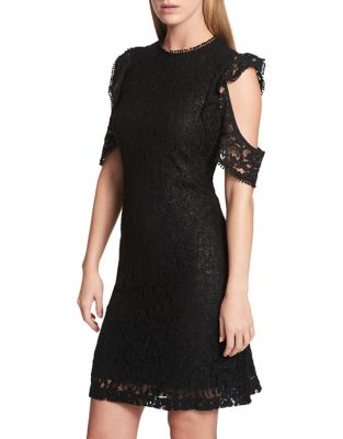 Cold-Shoulder Lace Dress by Tommy Hilfiger