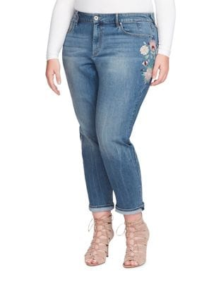 Plus Mika Embroidered Jeans 500087635485